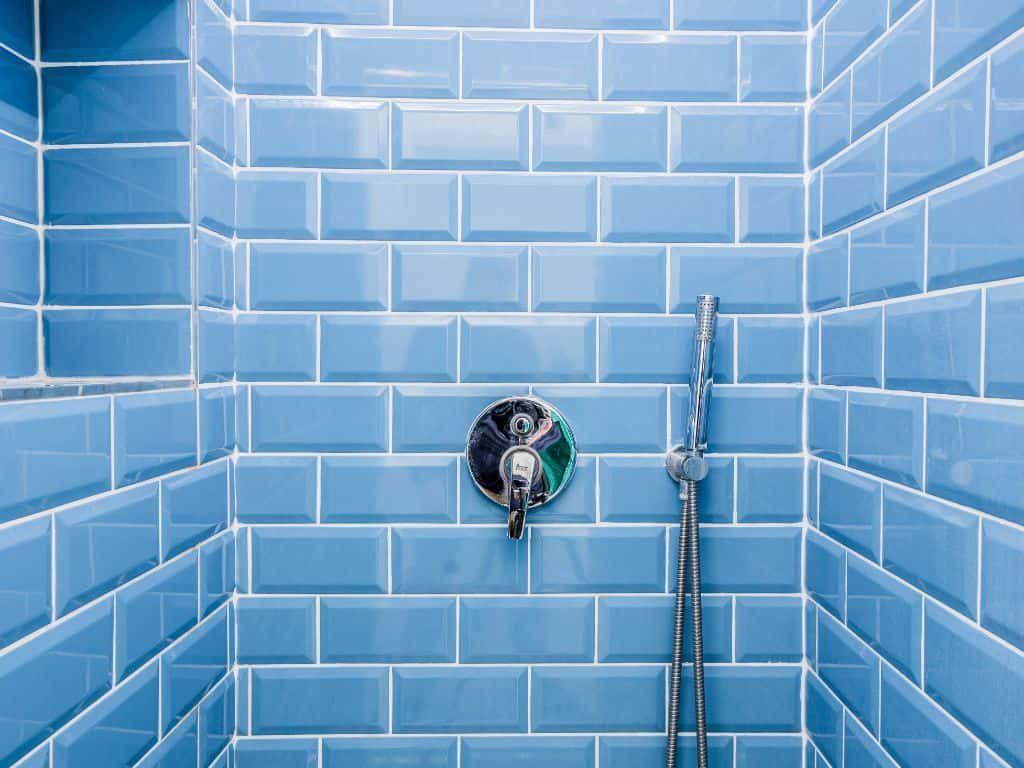bathroom glossy tiles