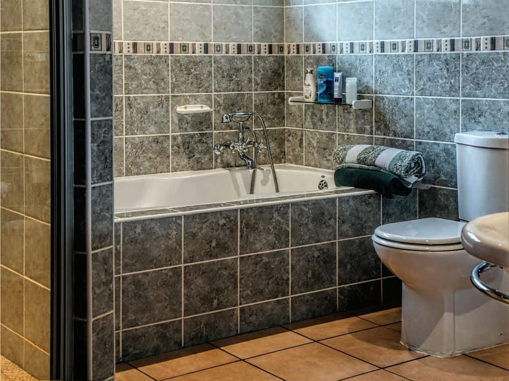 bathroom graphic tiles