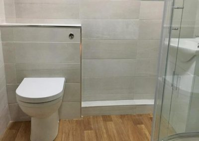 Bathroom renovation project completed in Evington, Leicester by Bath Barn's Bathroom Fitters