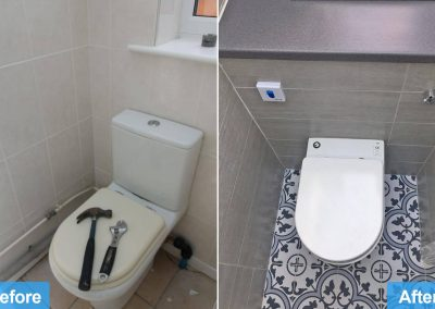 Bathroom and kitchen renovation Leicester before and after photo