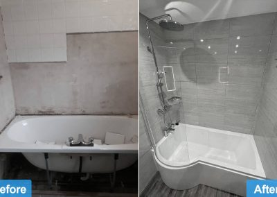 Bathroom Supply and fit Oadby le2 before after